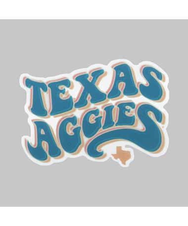 Texas A&M Fuzzy Bubble Dizzler Sticker
