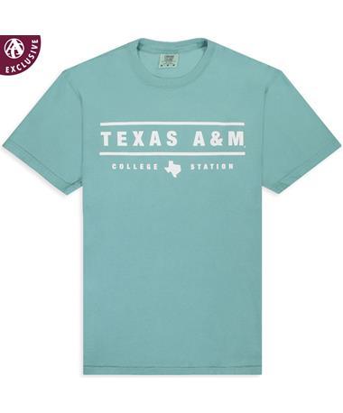 Texas A&M Between The Lines Seafoam T-Shirt