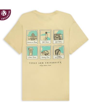 Texas A&M Landmark Polaroids T-Shirt