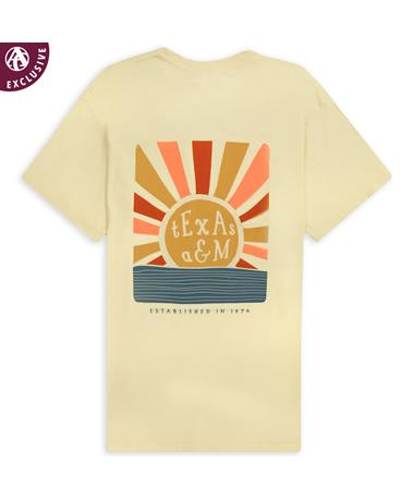 Texas A&M Shoreline Sunset T-Shirt