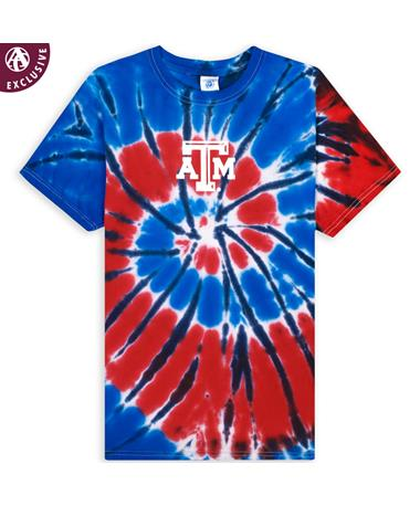 Texas A&M Independence Day Tie Dye T-Shirt