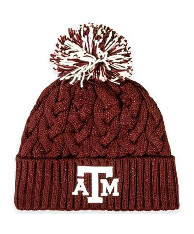 Texas A&M New Era Women's Cable Knit Pom Beanie