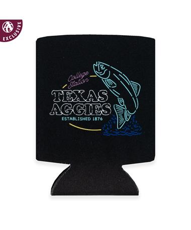 Texas A&M Favorite Place Neon Koozie