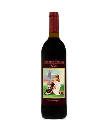 IN STORE PICKUP OR LOCAL DELIVERY ONLY: Jane Metz Fine Arts 12th Man Spirit Red Wine