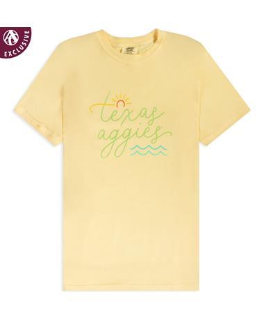 Texas A&M Aggies Sun & Waves T-Shirt