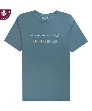 Texas A&M Script Aggies Ice Blue T-Shirt
