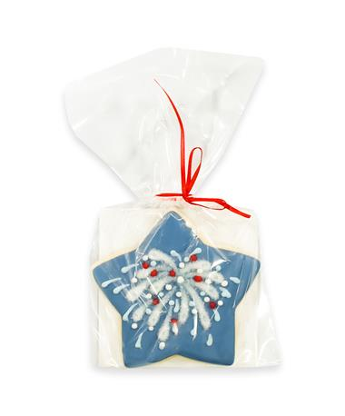 Red, White, & Blue Fireworks Cookie