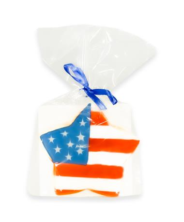 Fourth of July American Flag Cookie