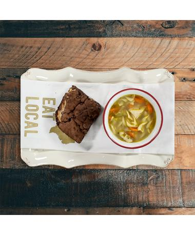 Royers Chicken Soup & Brownie Get Well Soon Bundle