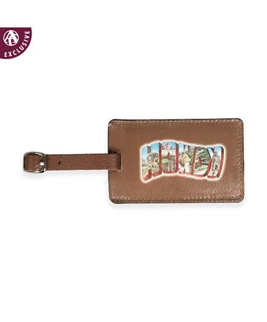 HOWDY Portrait Leather Luggage Tag