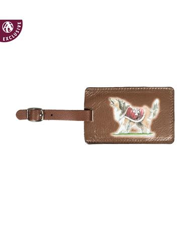 Texas A&M Reveille Leather Luggage Tag