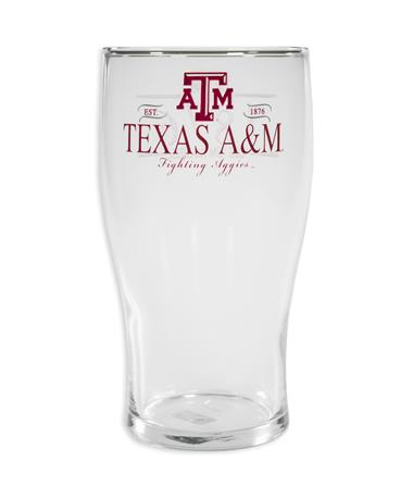 Texas A&M 20oz. Frosted Pub Glass
