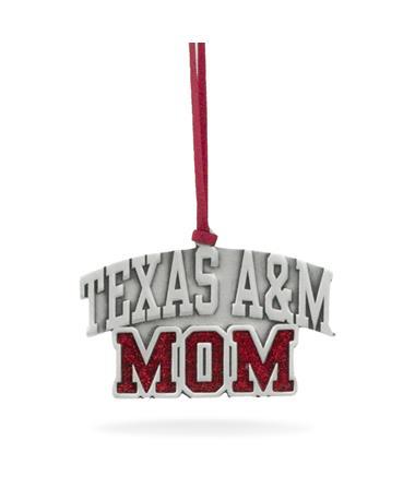 Texas A&M Mom Pewter Ornament