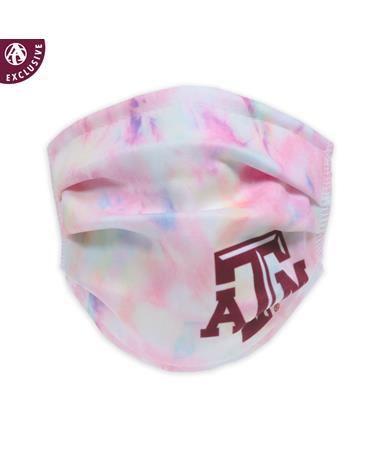 Texas A&M Pastel Tie Dye Youth Mask