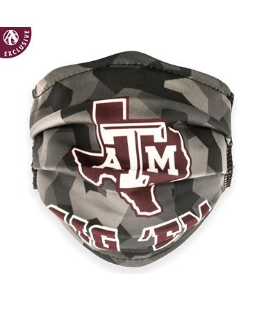 Texas A&M Lone Star Shattered Grey Youth Mask