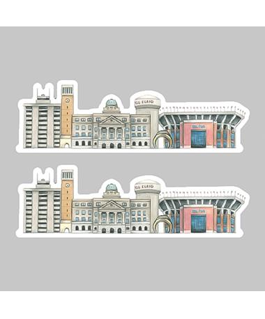 Aggieland Buildings Dizzler Sticker