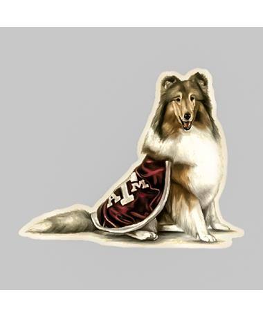 Texas A&M Sitting Reveille Dizzler Sticker