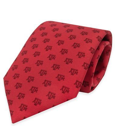 Texas A&M Vineyard Vines Printed Red Neck Tie