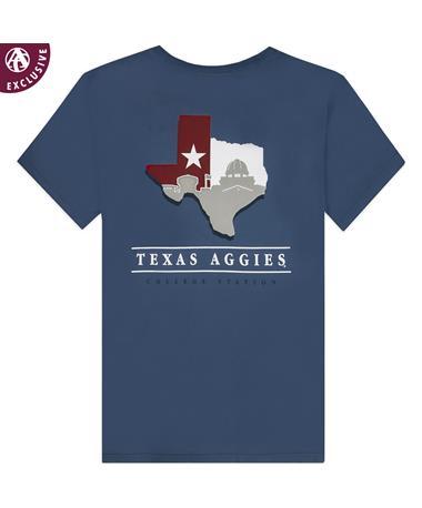 Texas A&M Academic Silhouette Texas T-Shirt