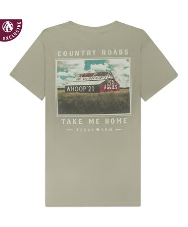 Texas A&M Country Roads Whoop Pocket T-Shirt