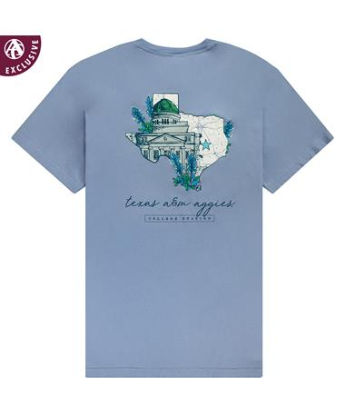Texas A&M Aggies Academic Bluebonnets T-shirt