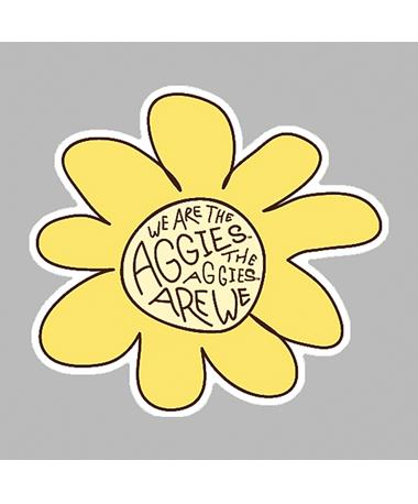 Aggies Are We Sunflower Dizzler Sticker