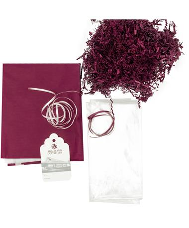 Maroon & White Gift Basket Kit