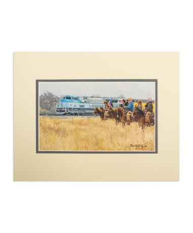 Benjamin Knox 4141 Train Small Double Matted Pape