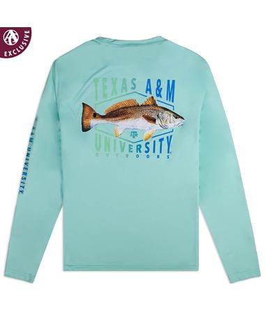 Texas A&M Red Fish Running Long Sleeve Shirt