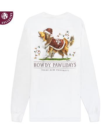 Texas A&M Reveille Howdy Pawlidays Long Sleeve T-Shirt