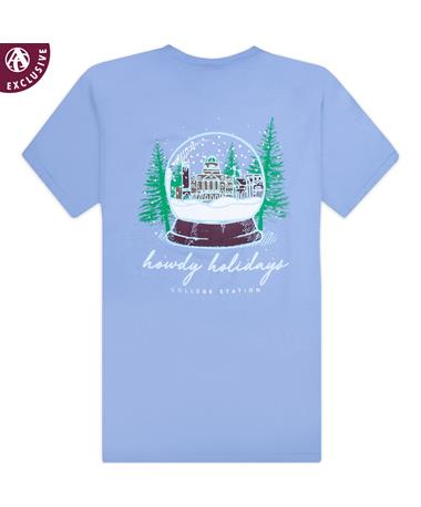 Texas A&M Snow Globe Building T-Shirt