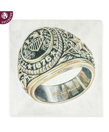 Texas A&M Aggie Ring Pillow with Name Customization