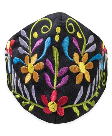 Tipico Black Embroidered Mask