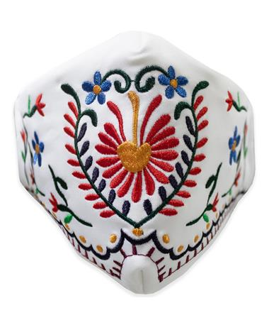 Tipico White Embroidered Mask