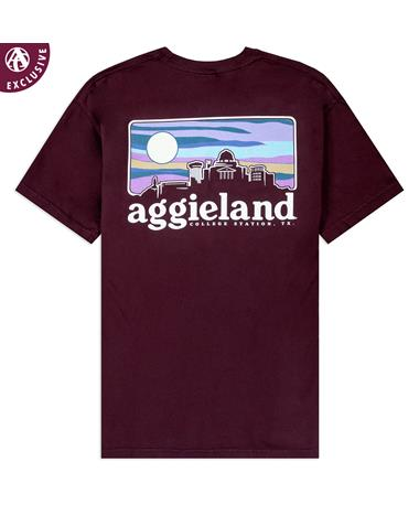 Texas A&M Sunset Skyline T-Shirt