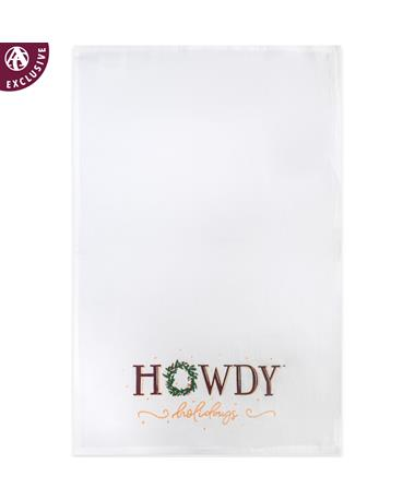 Howdy Holidays Tea Towel