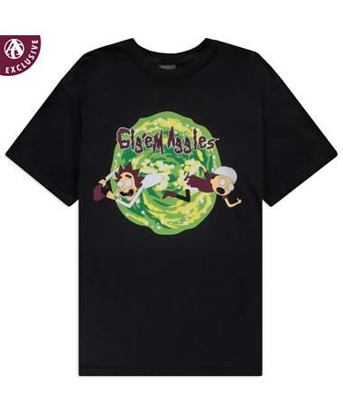 Gig 'Em Aggies Cartoon Duo Green Portal T-Shirt