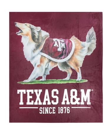 Texas A&M Reveille Blanket