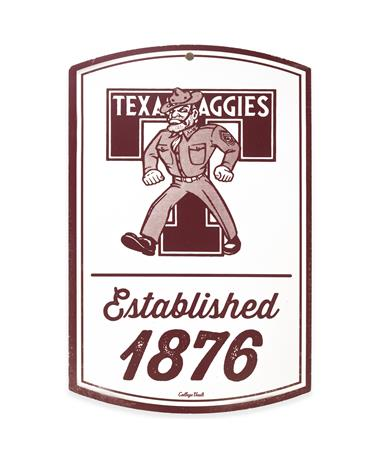 Texas A&M Ole' Sarge Est. 1876 Wooden Sign