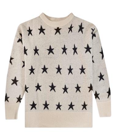 She + Sky Oversized Star Print Sweater