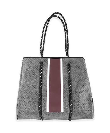 Maroon and Gray Large Tote
