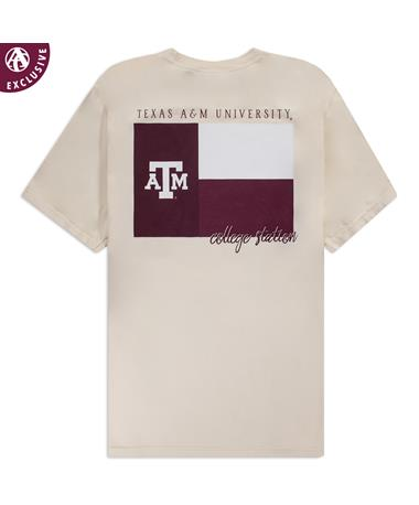Texas A&M Maroon Texas Flag T-Shirt