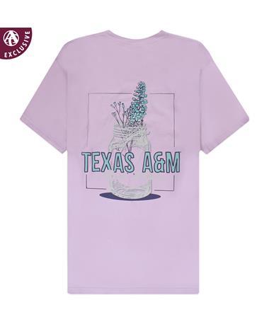 Texas A&M Flower Mason Jar T-Shirt