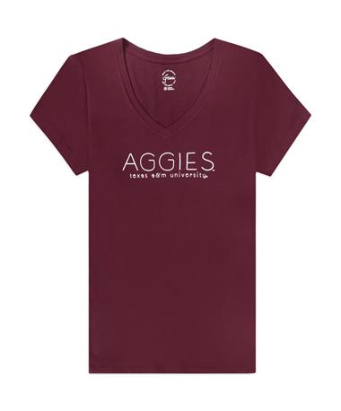 Texas A&M Mia Tee-V neck