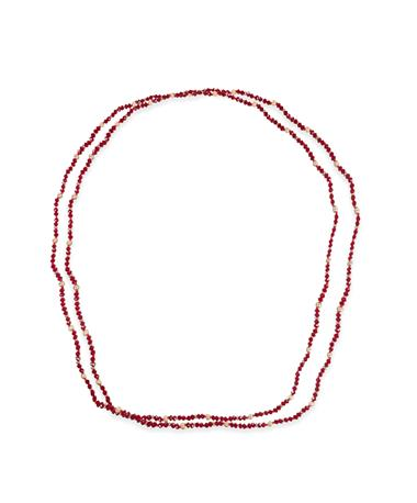 Casey & Co. Maroon And Gold Necklace