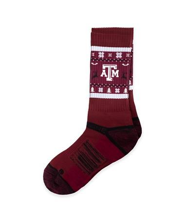Texas A&M Maroon Christmas Socks