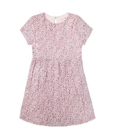 Maroon Leopard Print Dress