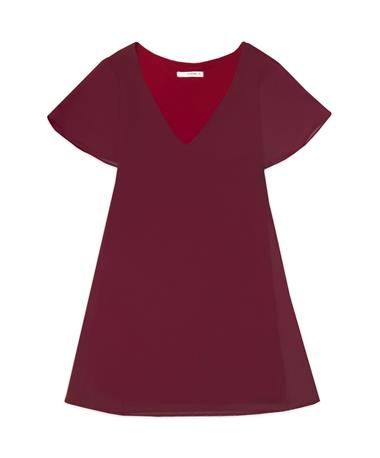 Maroon Flare Sleeve Dress