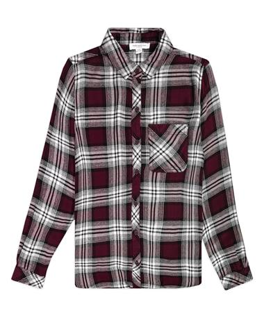 Maroon Charley Texture Plaid Shirt