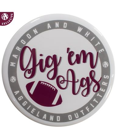 Gig 'Em Ags Football Button